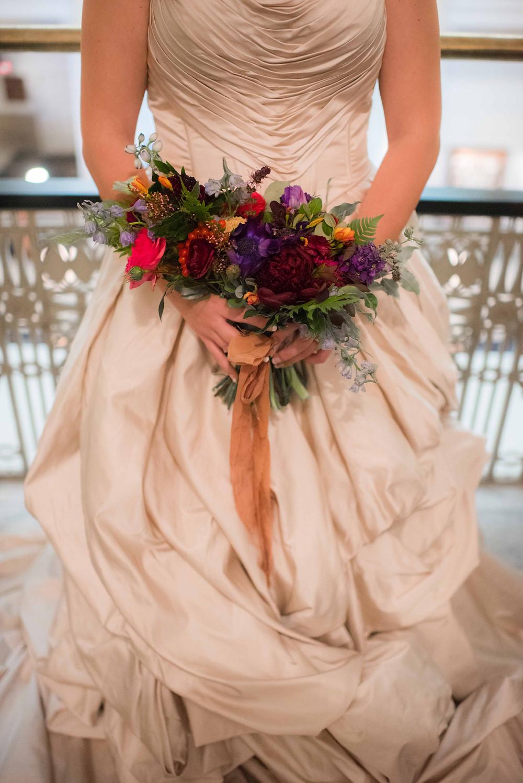 Jewel Tone Bouquet - Copper - Keepsakes