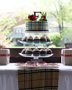 Burberry Bridal Shower, Baseball Bridal Shower, Real Events, Dessert Tale, Burberry Dessert Table, Columbus, OH
