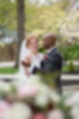 Happy Bride and Groom Dancing