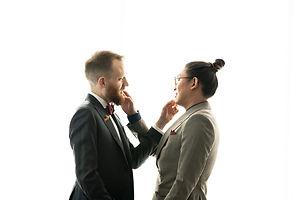 Two Grooms in Custom Suits at Le Meridien: The Joseph in Downtown Columbus, OH