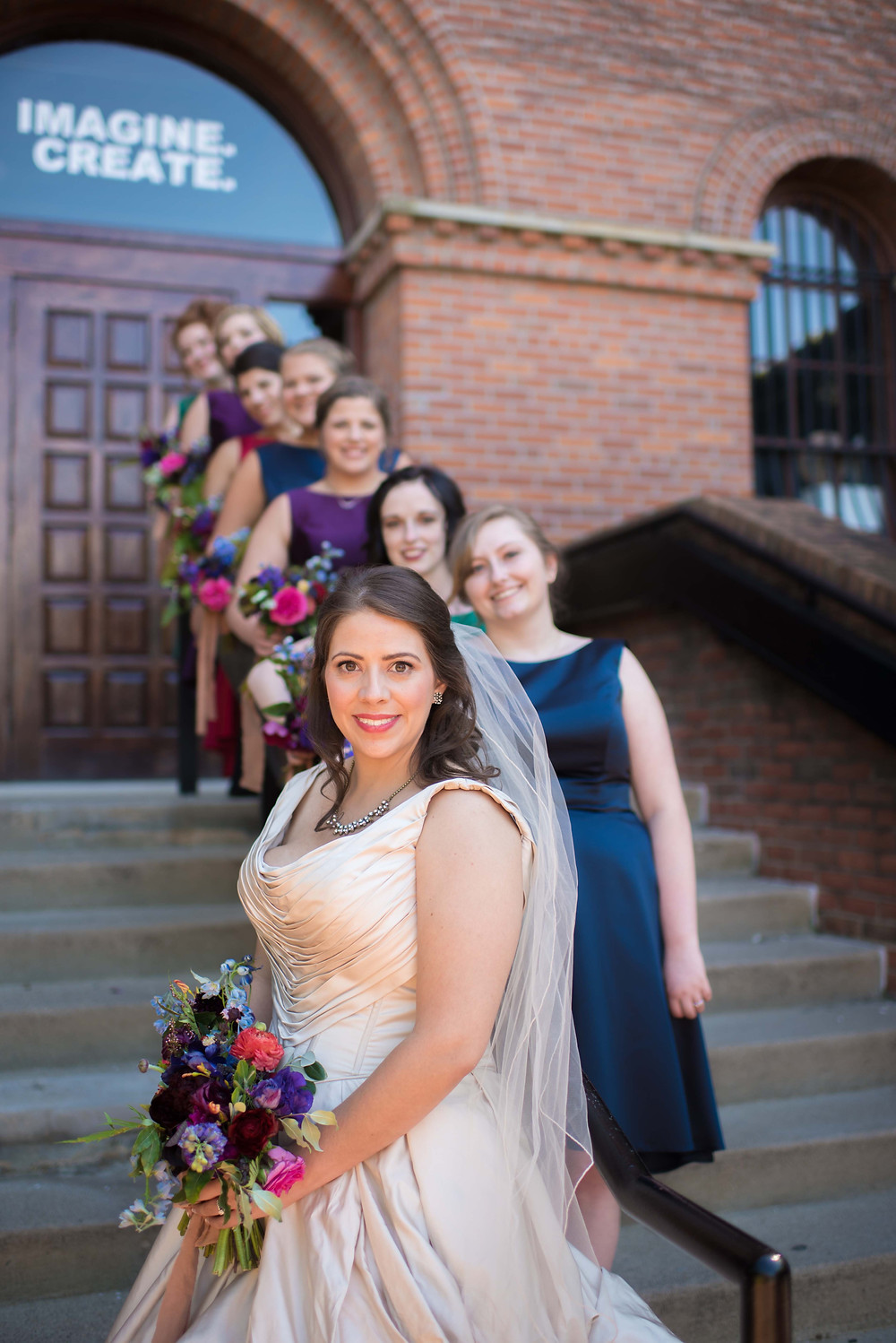 Sapphire, Plum, Ruby, Emerald, Blush Bridal Party