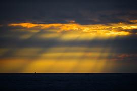 Sun Rays on the Sea