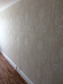 After wallpapering