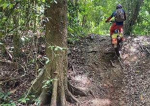 trail biking cairns