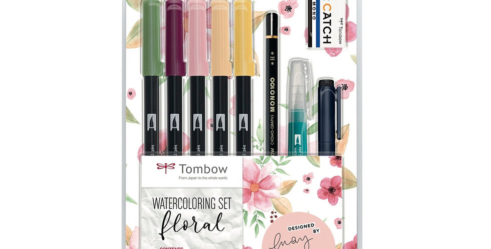 "Tombow Watercoloring Set""floral"""