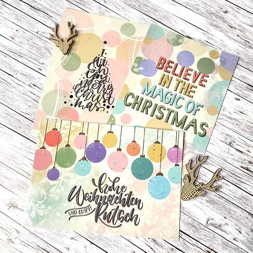3 x Weihnachtspostkarten -Mix-