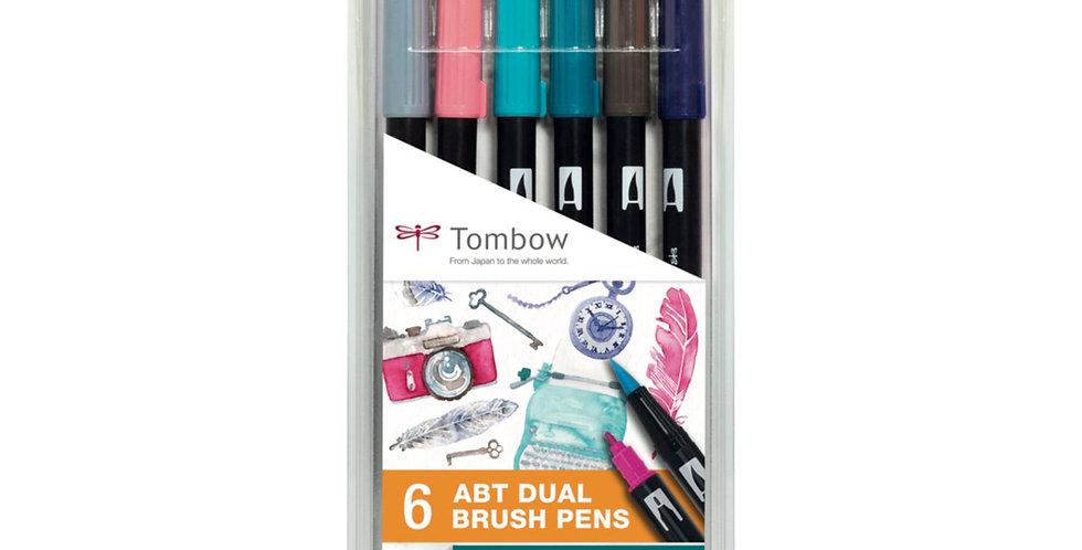 """Tombow ABT Dual Brush pens""""Vintage Colours"""""""