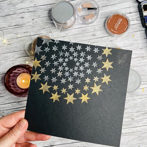 Selstklebende  Schablonenfolie Sterne (klein)