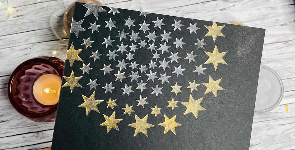Selstklebende  Schablonenfolie Sterne -mittel