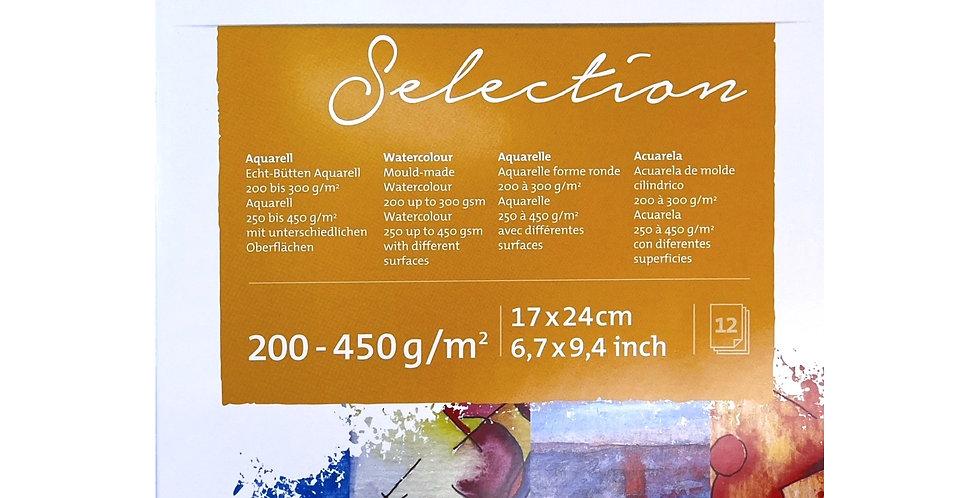Hahnemühle Selection Aquarelle 200-450g/m² 17 x 24 cm