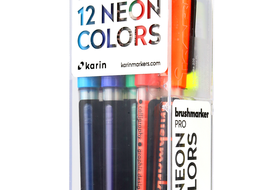 Karin Brushmarker PRO 12 Neon Color Set