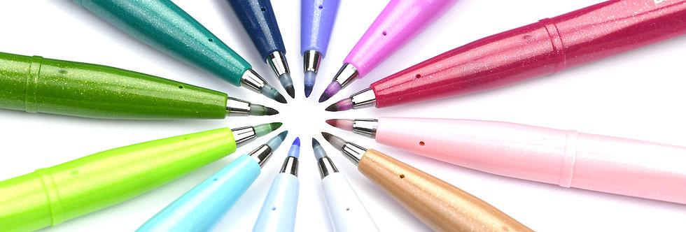 Pentel Faserschreiber Sign Pen Brush, PASTEL