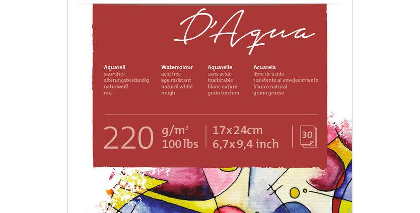 Hahnemühle D'Aqua Watercolour 220 g/m² 17x24 cm