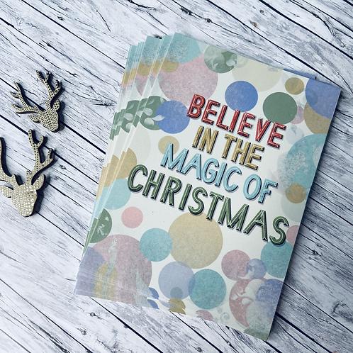 3 x Weihnachtspostkarten -I Believe-