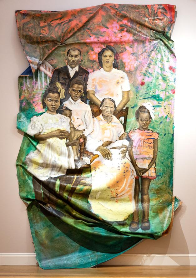 24.Walcott portrait (Harold, Carmen, Gloria, Dorothy, Roy, Ceretha, Angela Walcott & Aunt Jess)