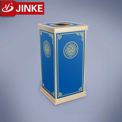 Oriental Style Littering Bin (Navy Blue)