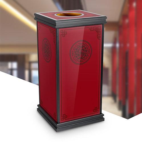 Oriental Style Littering Bin (Red)