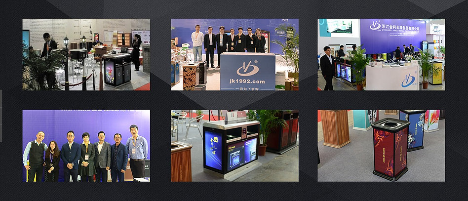 Jinke USA, show, Las Vegas, Meeting, Solar Powered, Metal fabricator, Jinke USA, Stanchion, Trash Can, Littering Bin, Light Box, Aluminum, Machine