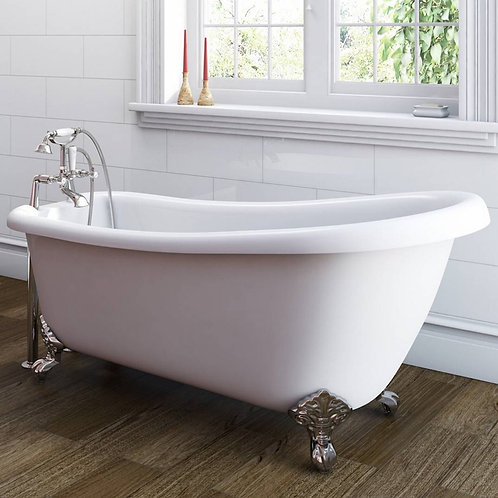 Charlotte 1700mm Traditional Slipper Freestanding Bath