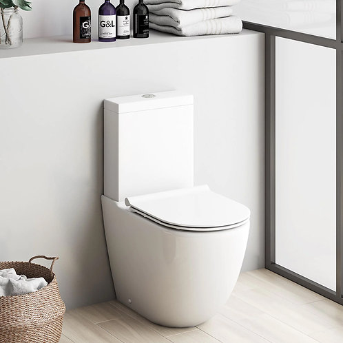 Etra Fully BTW Toilet Pan, Cistern & Seat
