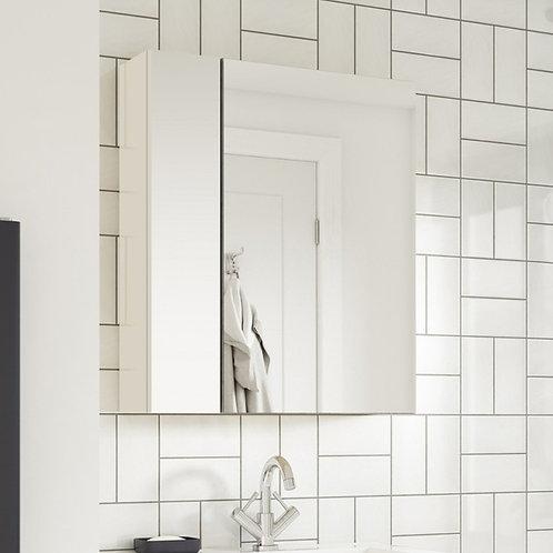 Hampton 2 Door Mirror Cabinet 600mm White