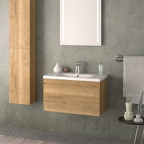 Rhode 700mm Wall Hung Vanity Unit Oak