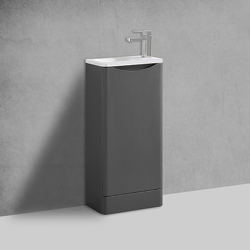 Sofia 400mm Grey Cloakroom Freestanding Vanity Unit