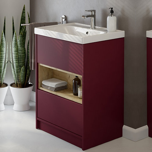 Malta Freestanding Unit Burgundy