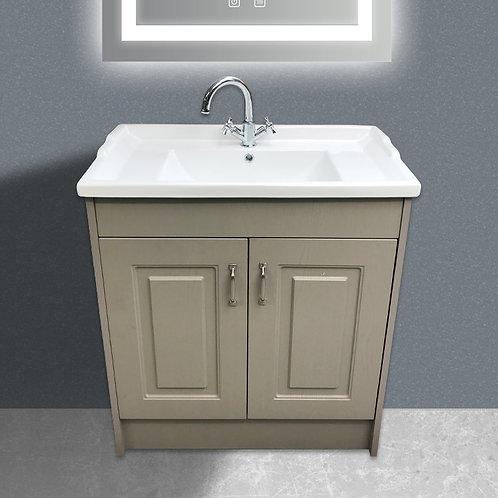 Livari Traditional 800mm Cotton Grey Vanity Unit