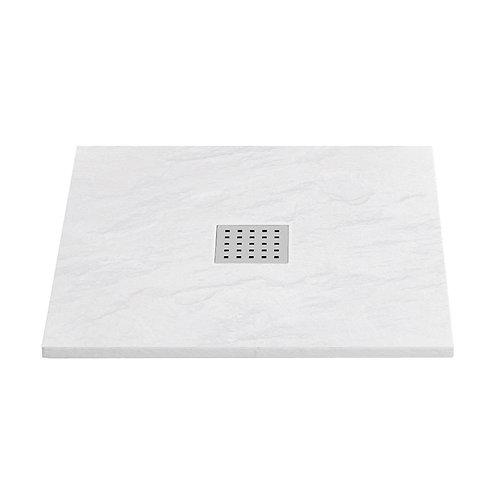 Slate 900x900 White Shower Tray