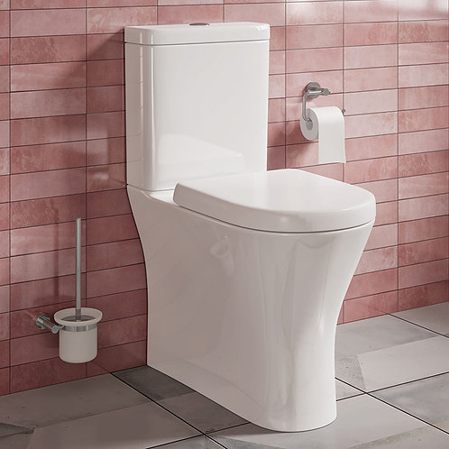 Pere Fully BTW Toilet Pan, Cistern & Seat