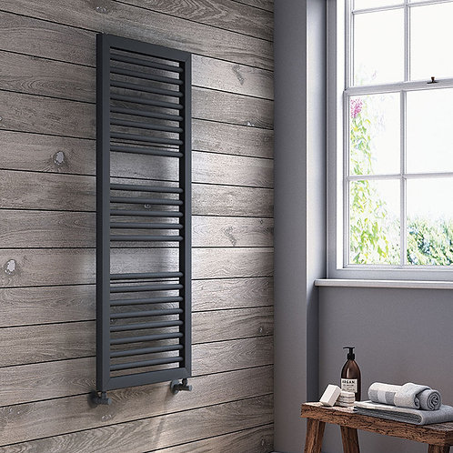 Ari 1230 x 500 Black Heated Towel Rail