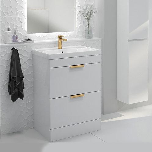 Stockholm White Freestanding Vanity Unit