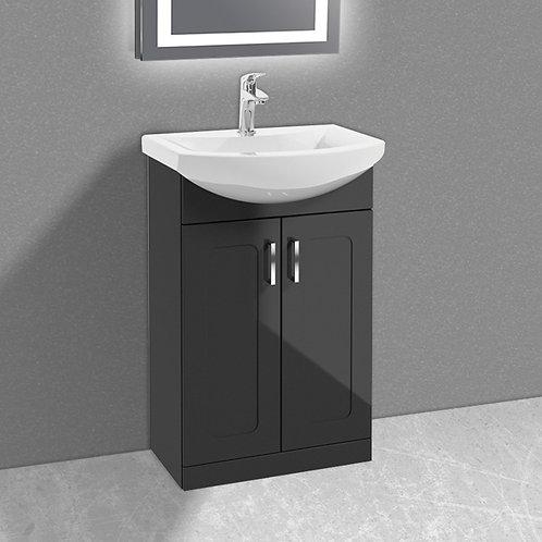 Bristol 550mm Vanity Unit & Basin Graphite