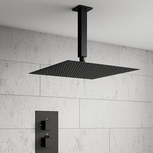 Quadro Black Rainfall Concealed Shower Kit