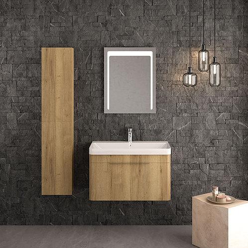 Siena Wall Vanity Unit Oak