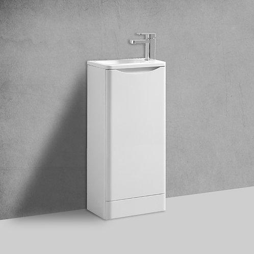 Sofia 400mm White Cloakroom Freestanding Vanity Unit