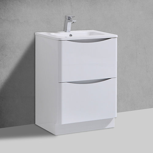 Sofia White Freestanding Vanity Unit