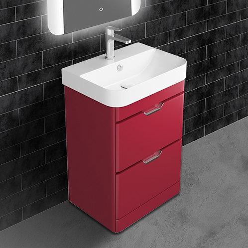 Sott Aqua Red Floor Standing Vanity Unit
