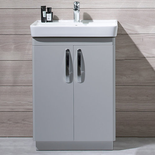Compass Freestanding Vanity Unit Grey