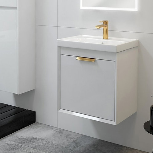 Fjord Gloss White Wall Hung Vanity Unit