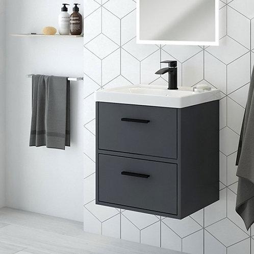 Finland Midnight Grey Wall Hung Vanity Unit
