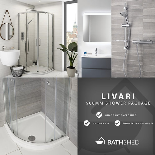 Livari 900mm Quadrant Shower Package