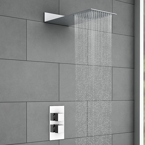 Mila Square Shower Kit With Concealed Values