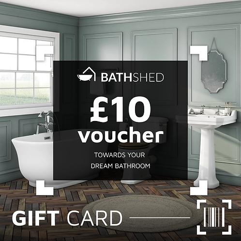 £10 Bathshed Gift Voucher