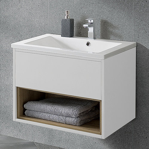 Lucca 600mm Wall Hung Vanity Unit White