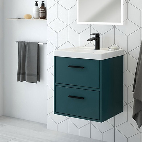 Finland Ocean Blue Wall Hung Vanity Unit