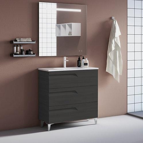 Brava Nature Grey Freestanding Vanity Unit