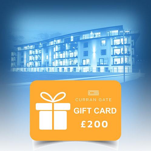 £200 Gift Voucher For Curran Gate
