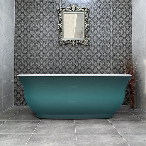 Livari Clodagh Green Freestanding Bath